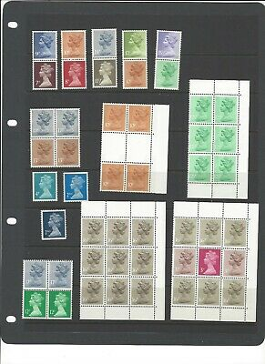 GB Nice selection of specialist Machin definitives UMM MNH