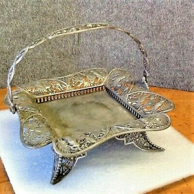 Antique Vintage Collectible Highly Detailed  Pairpoint Mfgco. Brides Basket