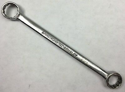 """Vintage Armstrong Tools No.6725 Armaloy 1/2"""" x 7/16"""" Box End Wrench Made in USA!"""