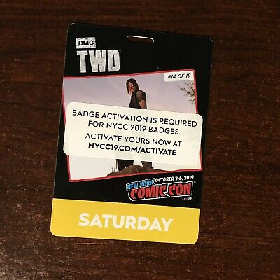 1 NYCC New York Comic Con 2019 SATURDAY Ticket Pass - Fan Verified!