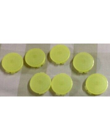 Tupperware Mini Pill Containers Round - New-Lime Yellow Color Set Of 14