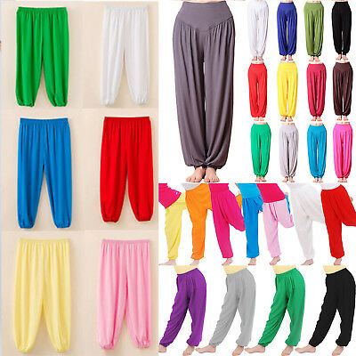 Kids Women Baggy Trousers Yoga Sport Harem Pants Bloomers Loose Leggings Bottoms