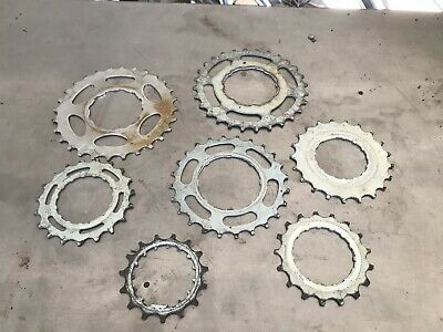 Lot Of 7 Chrome Small Gears Vintage Industrial Machine Age Steampunk Art