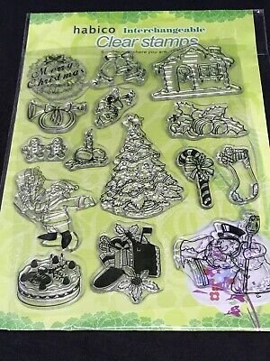 BIRTHDAY 4 SETS CLEAR STAMPS NEW SEALED CHRISTMAS HABICO