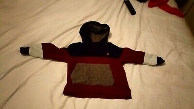Boys Next burgundy colour block Hooded Sweater Jumper Hoodie Age 4 Years