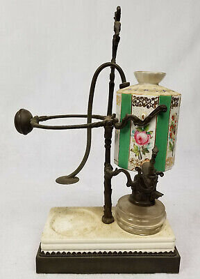 Antique Vintage Porcelain Pot Metal Hot Water Kettle Teapot Oil Burner