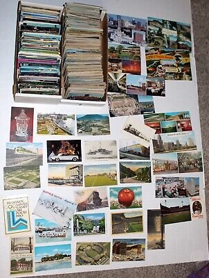 Vintage Lot of 1800+ Assorted Subjects Linen Chrome Gloss photo etc Postcards