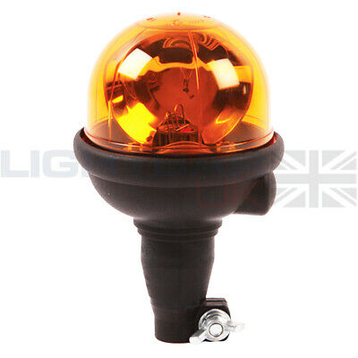 Lucas Flexible DIN Mount Agri Halogen Rotating Flashing Amber Beacon R65