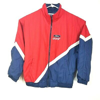 Ford Motor Company Vintage Ford Racing Jacket Men's Size XL Red White Blue