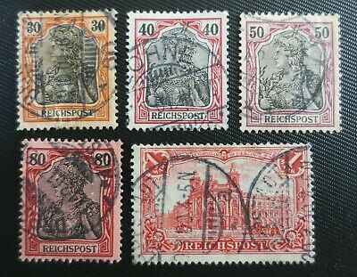 Germany 1900 SC #58-62 UH Germania Stamps from Quality Album