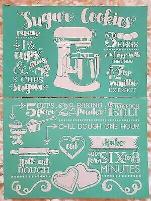 Chalk Couture Transfer, Sugar Cookies VHTF