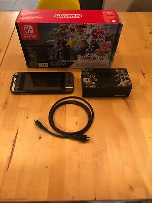nintendo switch console, Comes With Mario Kart 8 And Super Smash Bros Downloaded