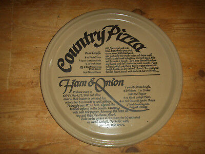 Vintage Pearson of Chesterfield Country Pizza Earthenware Ham& Onion Recipe Dish