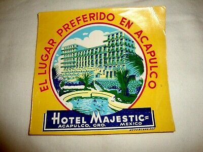 Label Luggage Hotel Majestic Acapulco Mexico
