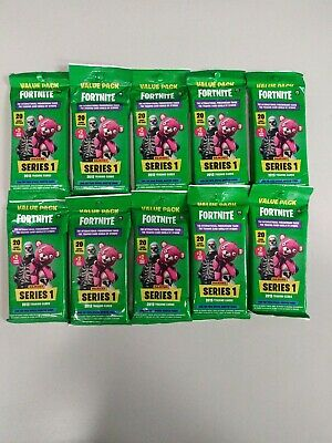 (10) 2019 Panini FORTNITE Trading Card New 20ct. Value/Fat Pack LOT = 120 Cards