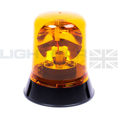 Vision Alert Three Bolt Agriculture Tractor Rotating Flashing Amber Beacon R65