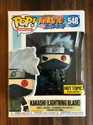 Funko Pop Animation Naruto Shippuden Kakashi Lightning Blade Hot Topic Exclusive