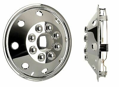 4x Chrome 15 Inch Extra Deep Dish Van Wheel Trims Hub Caps For Iveco Daily