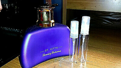 Tommy Bahama St. Kitts 5 or 10ML Sample in Glass Spray Atomizer AUTHENTIC