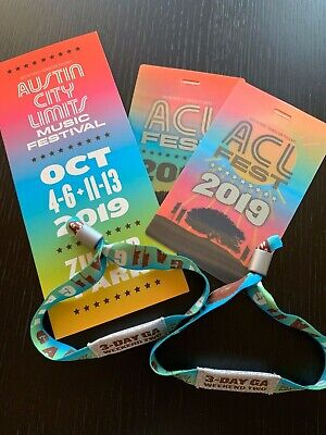 """TWO"" 2019 Austin City Limits Fest Weekend Two 3-Day GA Wristbands for OCT 11-13"