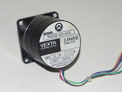 Vexta 2 Phase Motor, PH266-03-A15, 24V 0.3A, 18 deg./step, Oriental Motor Co.