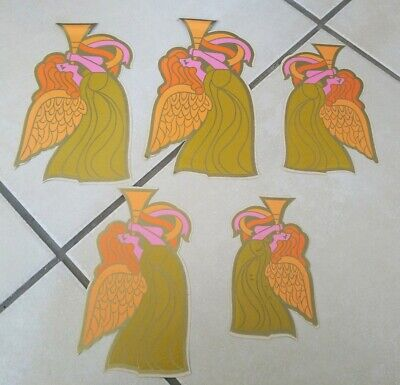 5 Rickie Tickie Stickies Vintage RARE Angels Stickers - opened, not used