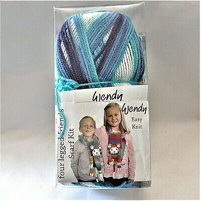 Wendy Four Legged Friends Katie Cat Bluebell Scarf Kit