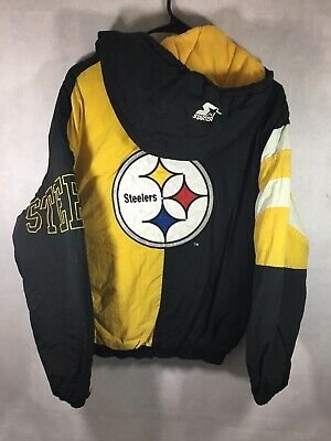 Vintage Pittsburgh Steelers STARTER Jacket Youth Large 90's Winter Parka Coat