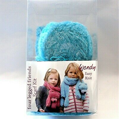 Wendy Four Legged Friends Bobby Bear Azure Scarf Kit