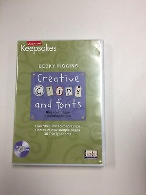 Creating Keepsakes Creative Clips and Fonts software