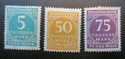 Germany 1923 SC #238A, 239 & 240 MH Stamps from Quality Album