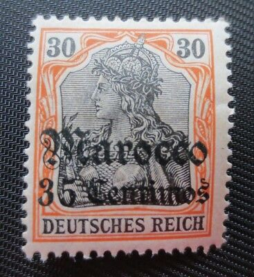Germany Offices in Morocco 1906-11 SC #38 Overprinted Surcharged MH Stamp