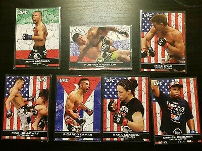 Topps Ufc 2013 Bloodlines numbered Flag Parallel Cards lot 1