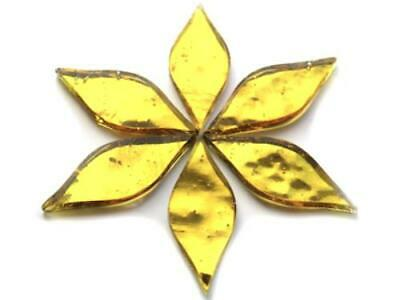 Gold Regalia Mirror Petals - Mosaic Tiles Supplies Art Craft