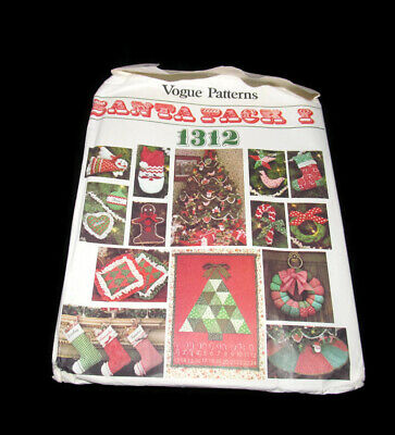Vogue Patterns 1312 Santa Pack I Holiday Christmas Vintage Sewing Pattern