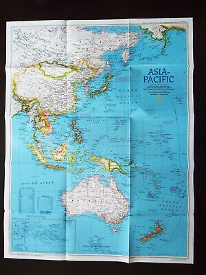 National Geographic Map 1989 - Asia Pacific  (M36)
