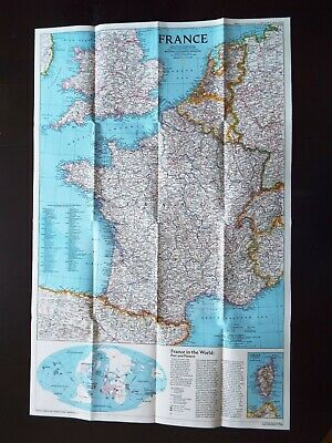 National Geographic Map 1989 - France & Historical  (M38)