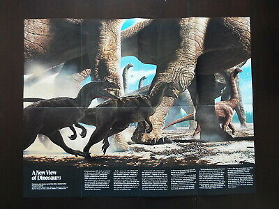 "National Geographic Map 1989 - ""Poster Map of  A New View of Dinausaurs""  (M110)"