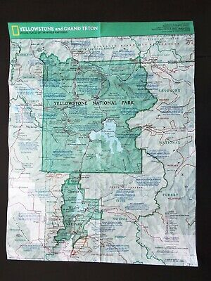 National Geographic Map 1989  - Yellowstone and Grand Teton National Parks (M39)