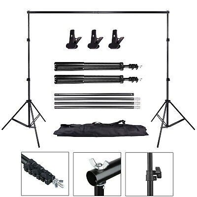 10Ft Adjustable Photography Background Support Stand Photo Backdrop Crossbar Kit