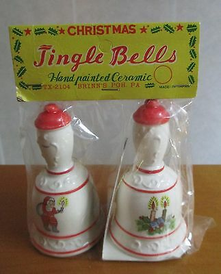 "3-1/2"" Brinn's Christmas Jingle Bells Ceramic New in Packaging Vintage TX-2104"