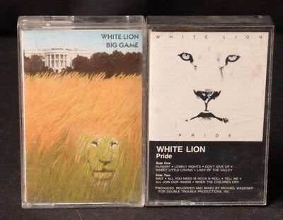 2 White Lion Cassette Tape Collection Lot Pride Big Game