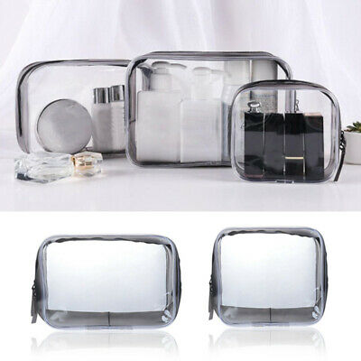 4Size Portable Waterproof Transparent Cosmetic Bags Travel Storage Pouch