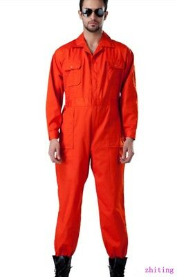 Mens One Piece Auto-repair Long Sleeve Workwear Overall Boilersuit Coverall new