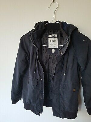 Quilted Navy Boys Hooded Jacket Size 6