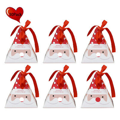 30Pcs Sweet Candy Gift Boxes Christmas Wedding Party Favour Candy Packing Boxes