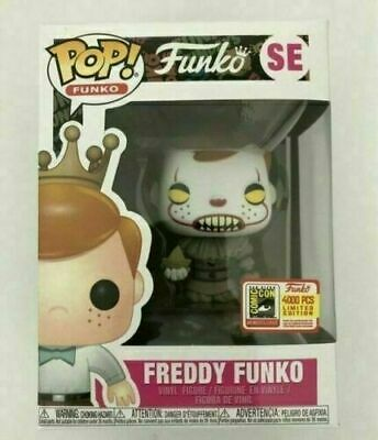 Hot Funko Pop Vinyl Figure Freddy Funko Pennywise SDCC LE4000 Brand New Box 2019