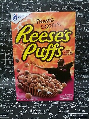 Travis Scott X Reeses Puffs Cereal - limited Edition REGULAR SIZE- Lot of 4