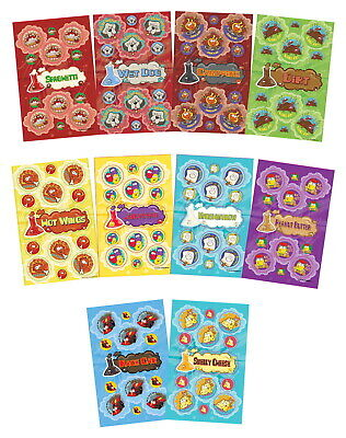 JFL Scratch N Sniff Stickers, Pecularly Interesting Smells, Pack of 280