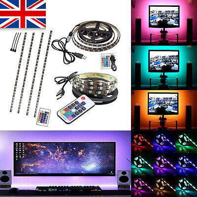 1M 2M 3M 5M USB RGB LED Strip Light Lights Backlight for LCD TV Computer Monitor